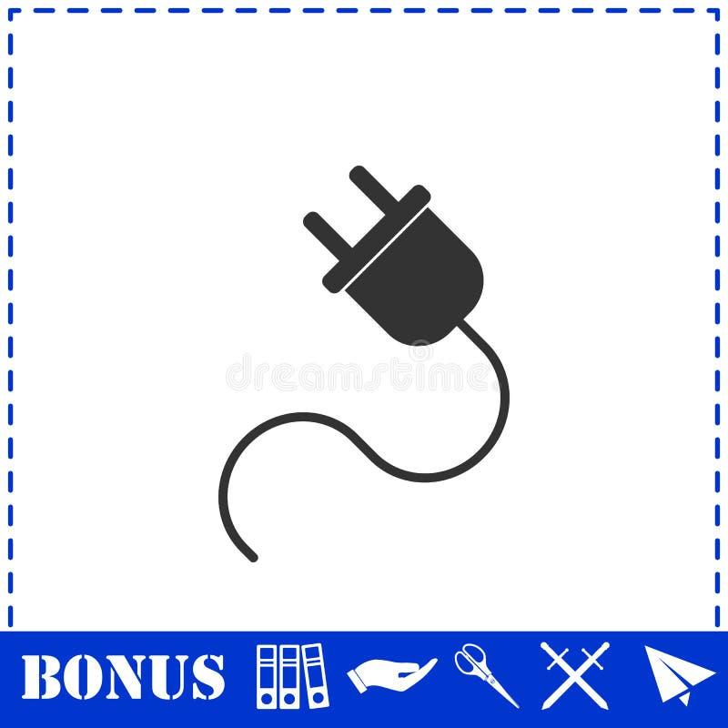 Icono del cable el?ctrico completamente stock de ilustración