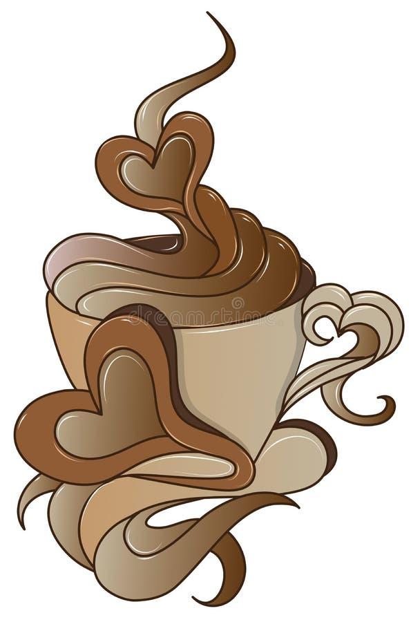 Icono del café con diseño con estilo stock de ilustración