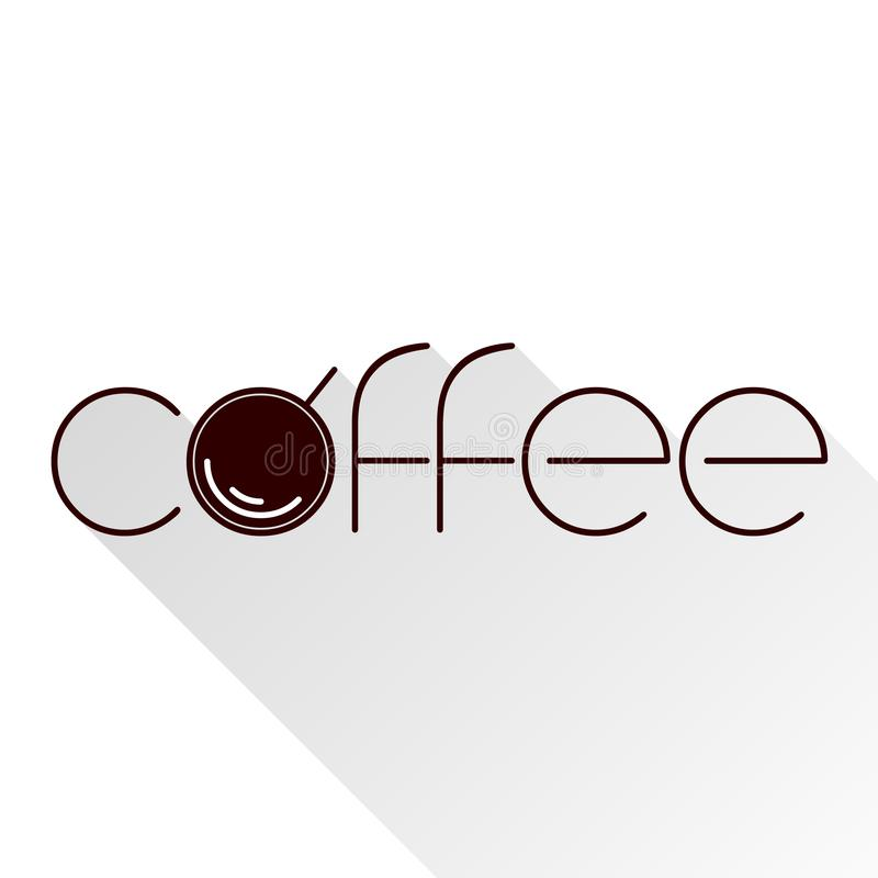 Icono del café Escoja el símbolo de alta calidad del esquema para el diseño web o el app móvil Línea fina muestra para el logotip stock de ilustración