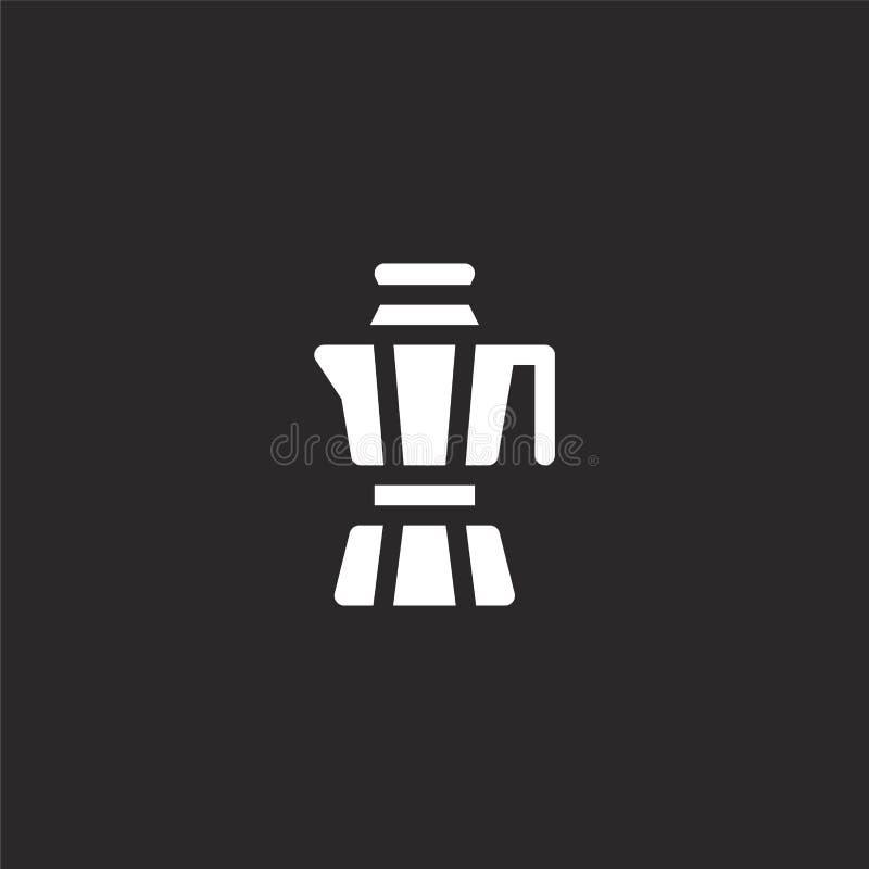 Icono del caf? Icono llenado del café para el diseño y el móvil, desarrollo de la página web del app el icono del café de la cole libre illustration