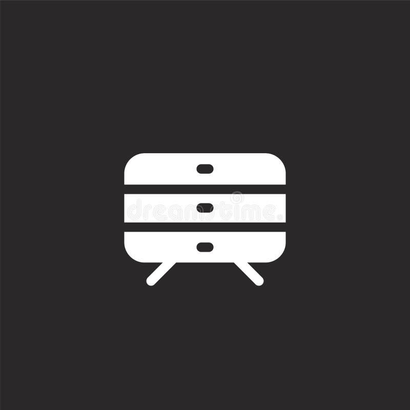 Icono del caj?n Icono llenado del cajón para el diseño y el móvil, desarrollo de la página web del app icono del cajón de la cole ilustración del vector