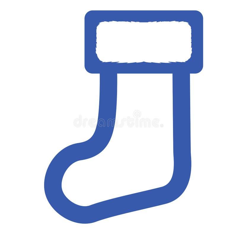 Icono del calcetín de la Navidad stock de ilustración