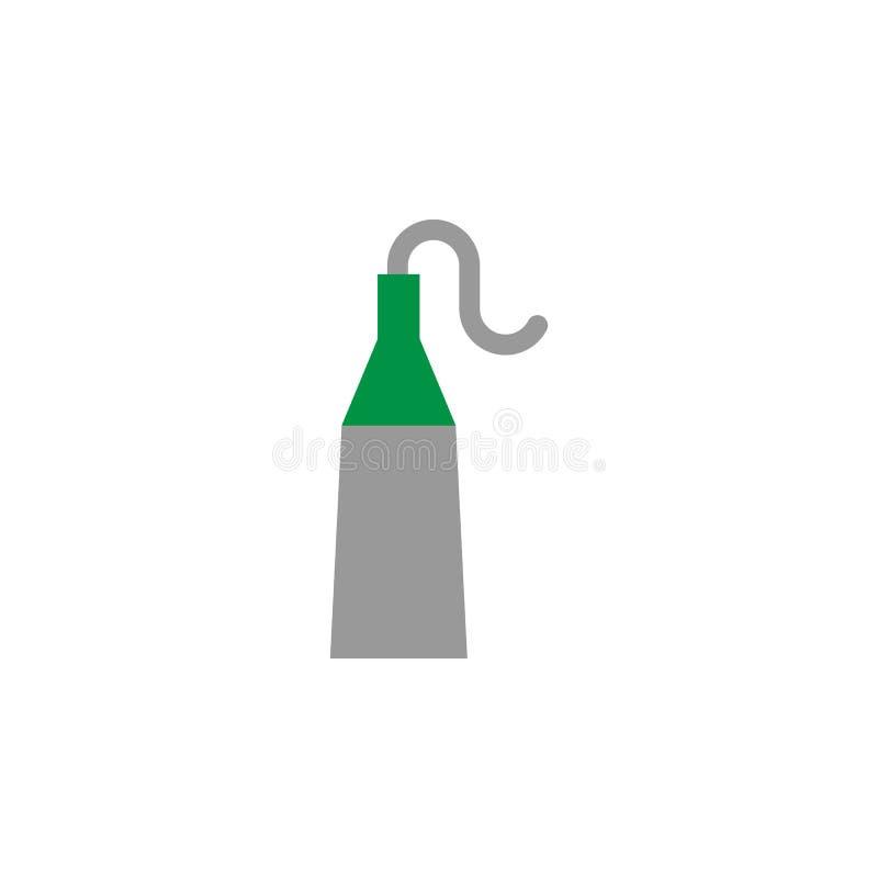 Icono del calcio y del flúor Elemento del icono del cuidado dental para los apps móviles del concepto y de la web El icono detall stock de ilustración