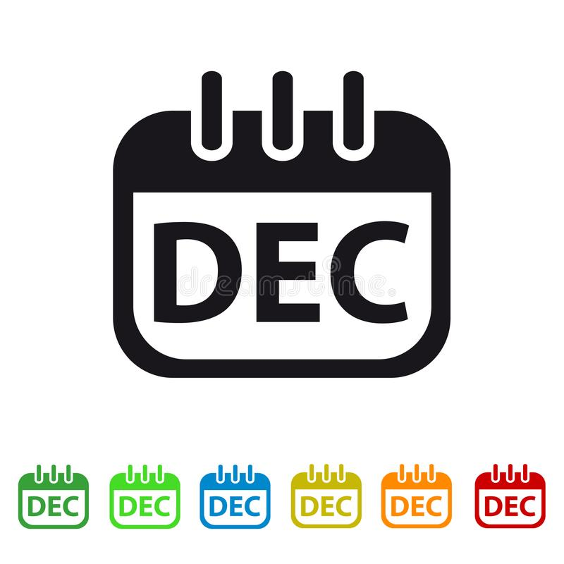 Icono del calendario de diciembre - símbolo colorido del vector libre illustration