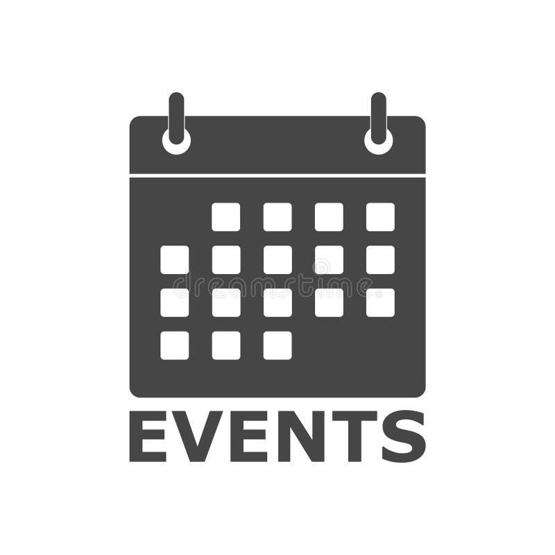 Icono del calendario del icono de los eventos, icono simple del vector libre illustration