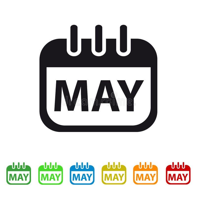 Icono del calendario de mayo - símbolo colorido del vector ilustración del vector