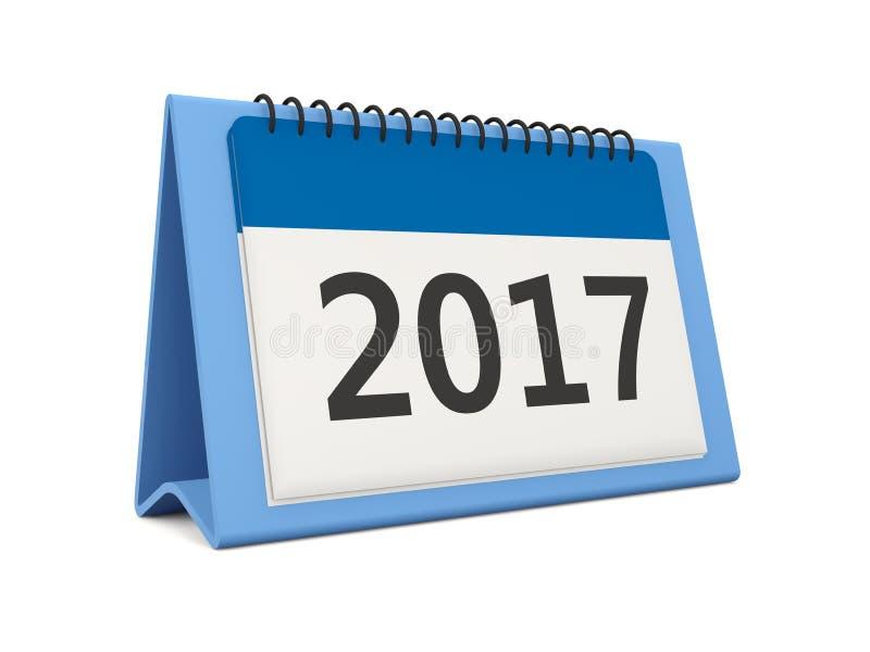 Icono del calendario del Año Nuevo 2017 en blanco ilustración del vector