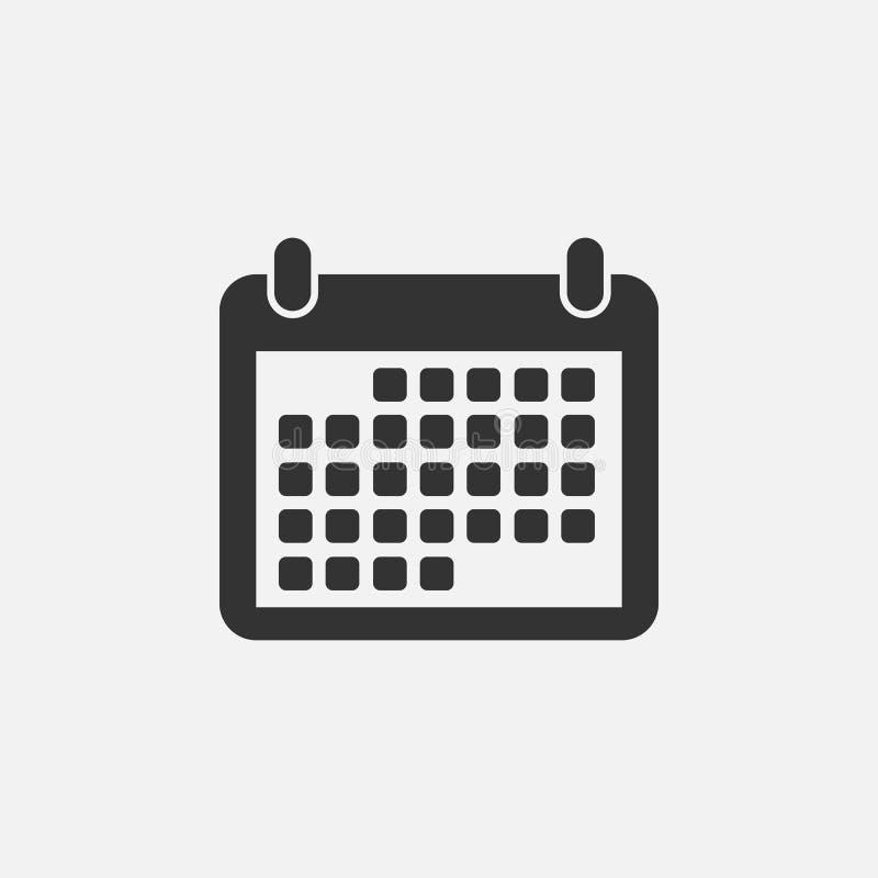 Icono del calendario, fecha, orden del día, mes stock de ilustración