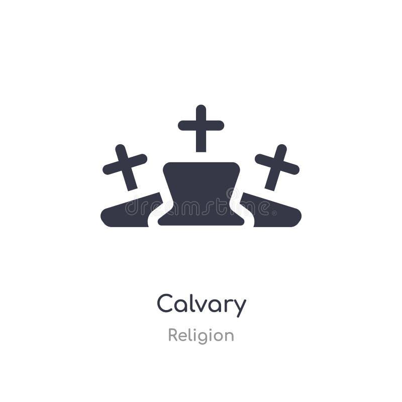 Icono del Calvary ejemplo aislado del vector del icono del calvary de la colección de la religión editable cante el s?mbolo puede stock de ilustración