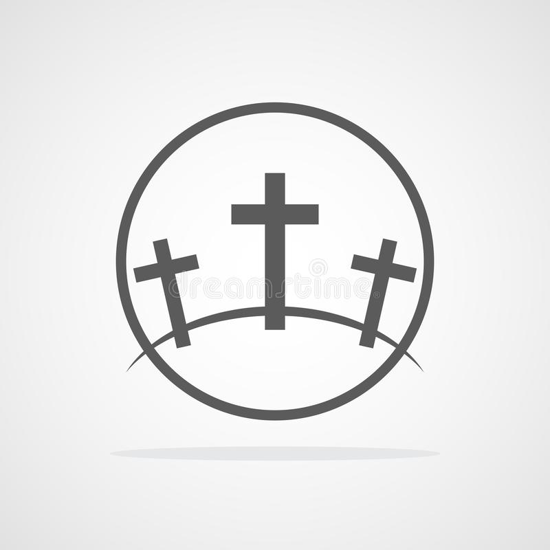 Icono del Calvary Ilustración del vector stock de ilustración