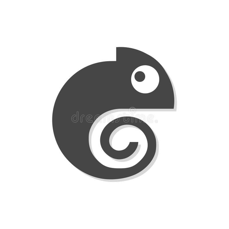 Icono del camaleón, logotipo simple del camaleón del vector ilustración del vector