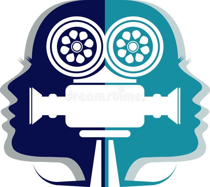 Icono del cameraman stock de ilustración