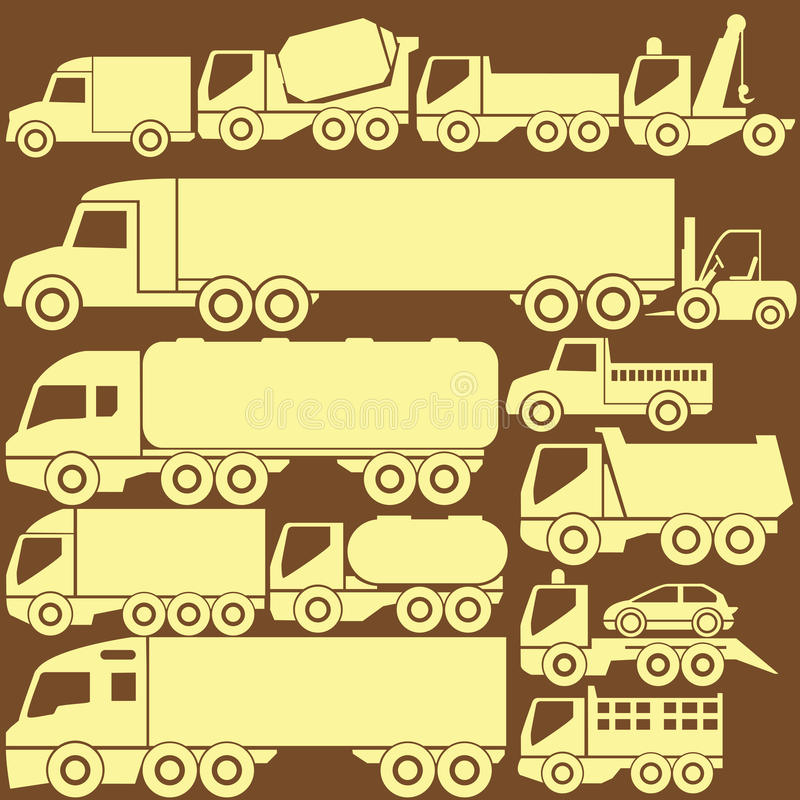 Icono del camión ilustración del vector