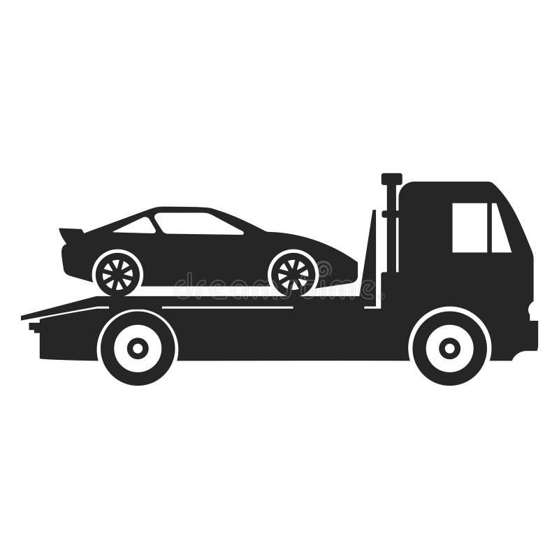 Icono del camión de remolque del coche stock de ilustración