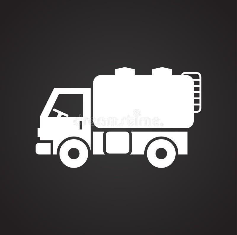 Icono del camión en el fondo para el gráfico y el diseño web Muestra simple del vector Símbolo del concepto de Internet para el b libre illustration