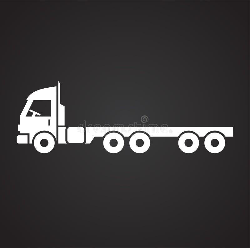 Icono del camión en el fondo para el gráfico y el diseño web Muestra simple del vector Símbolo del concepto de Internet para el b stock de ilustración