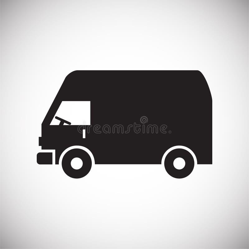 Icono del camión en el fondo para el gráfico y el diseño web Muestra simple del vector Símbolo del concepto de Internet para el b ilustración del vector
