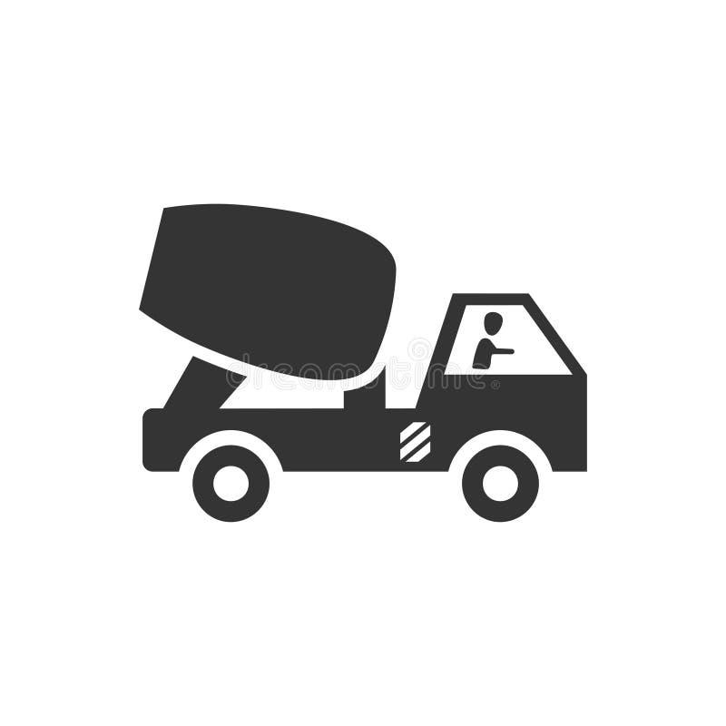Icono del camión del mezclador de cemento libre illustration