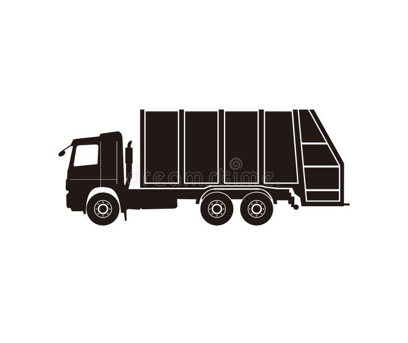 Icono del cami?n de basura stock de ilustración
