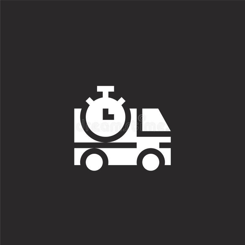 Icono del cami?n de reparto Icono llenado del camión de reparto para el diseño y el móvil, desarrollo de la página web del app ic libre illustration