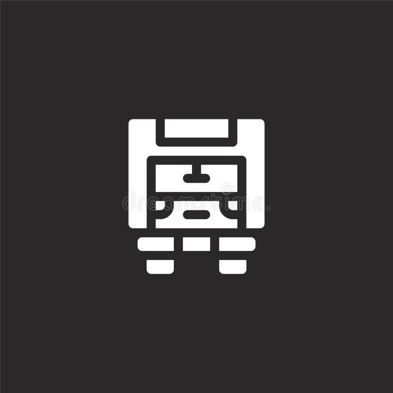 Icono del cami?n de reparto Icono llenado del camión de reparto para el diseño y el móvil, desarrollo de la página web del app ic ilustración del vector