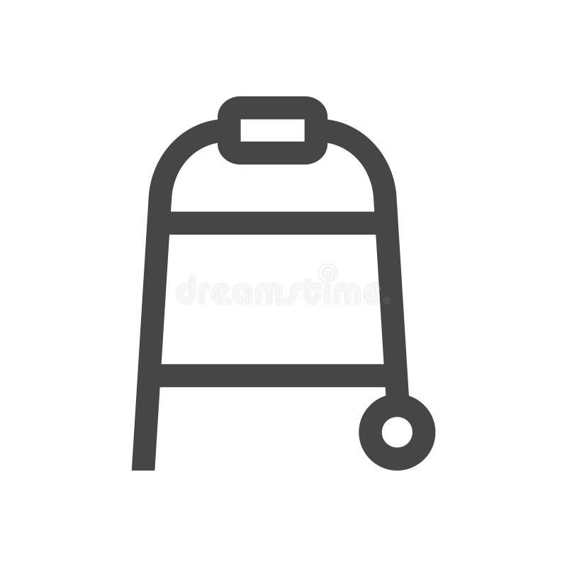 Icono del caminante del balanceo aislado en el fondo blanco libre illustration