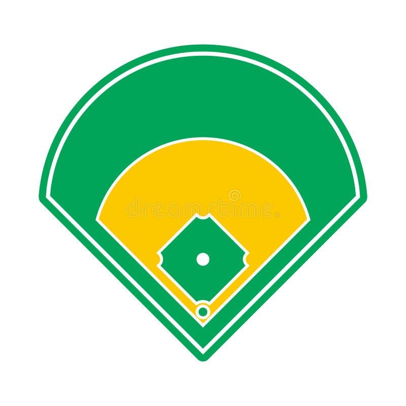 Icono del campo de béisbol ilustración del vector