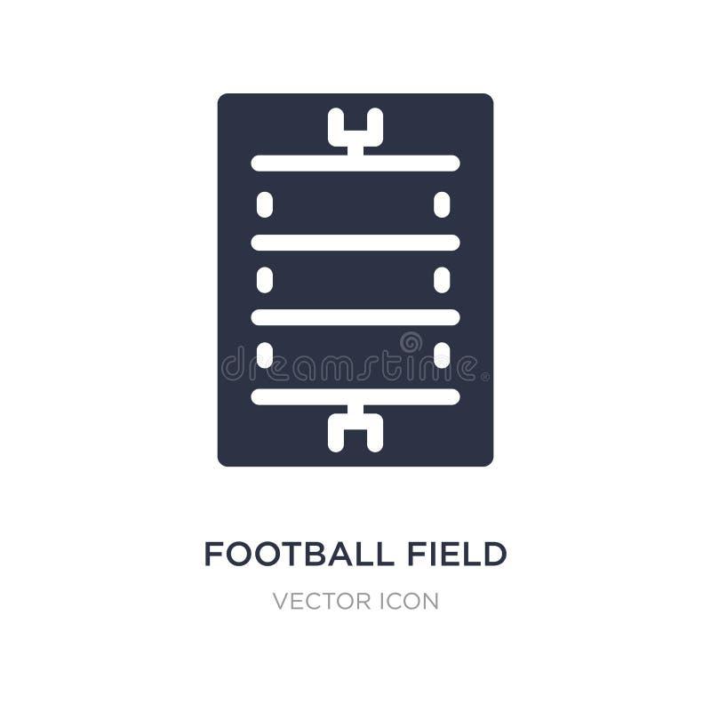 Icono del campo de fútbol en el fondo blanco Ejemplo simple del elemento del concepto del fútbol americano libre illustration