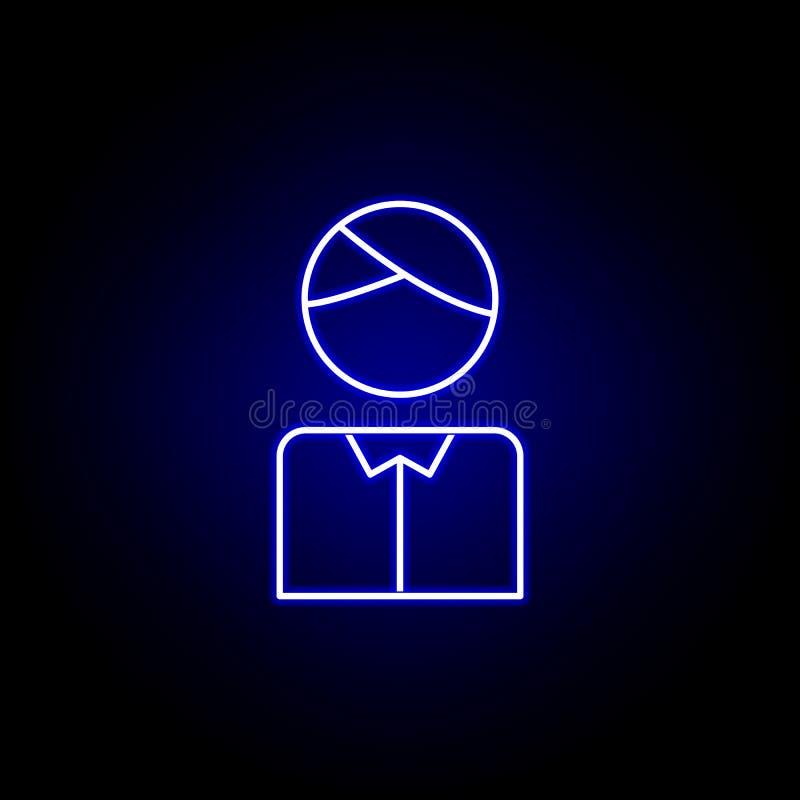 Icono del candidato de las elecciones en el estilo de neón Las muestras y los s?mbolos se pueden utilizar para la web, logotipo,  stock de ilustración