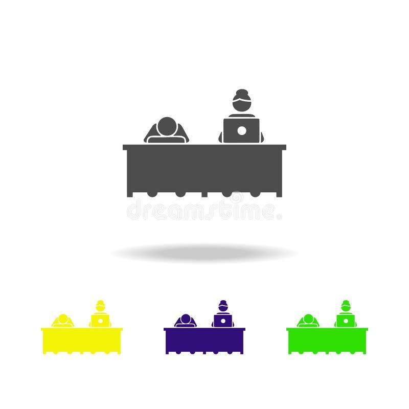 Icono del cansancio Elemento del icono de los colegas para los apps móviles del concepto y del web El icono detallado del cansanc libre illustration