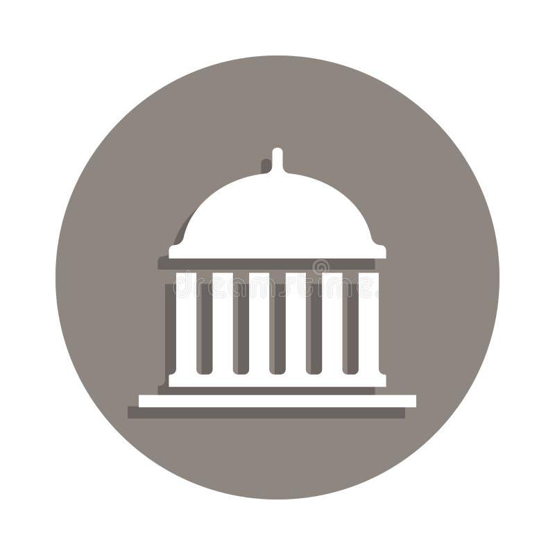 Icono del capitolio en estilo de la insignia Uno del icono de la colección de la elección se puede utilizar para UI, UX libre illustration