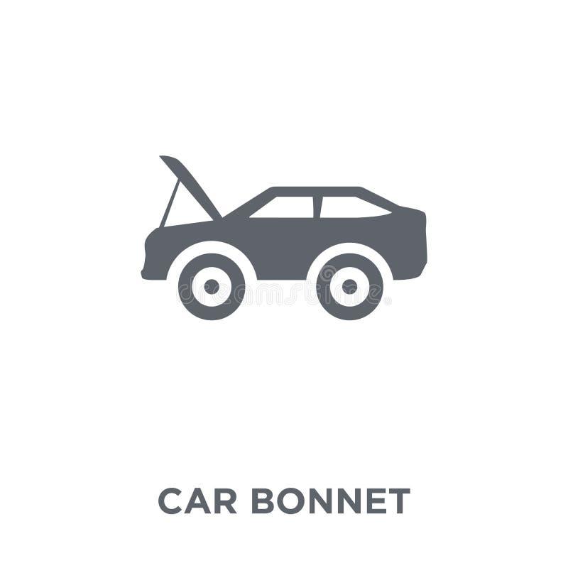 icono del capo del coche de la colección de las piezas del coche ilustración del vector