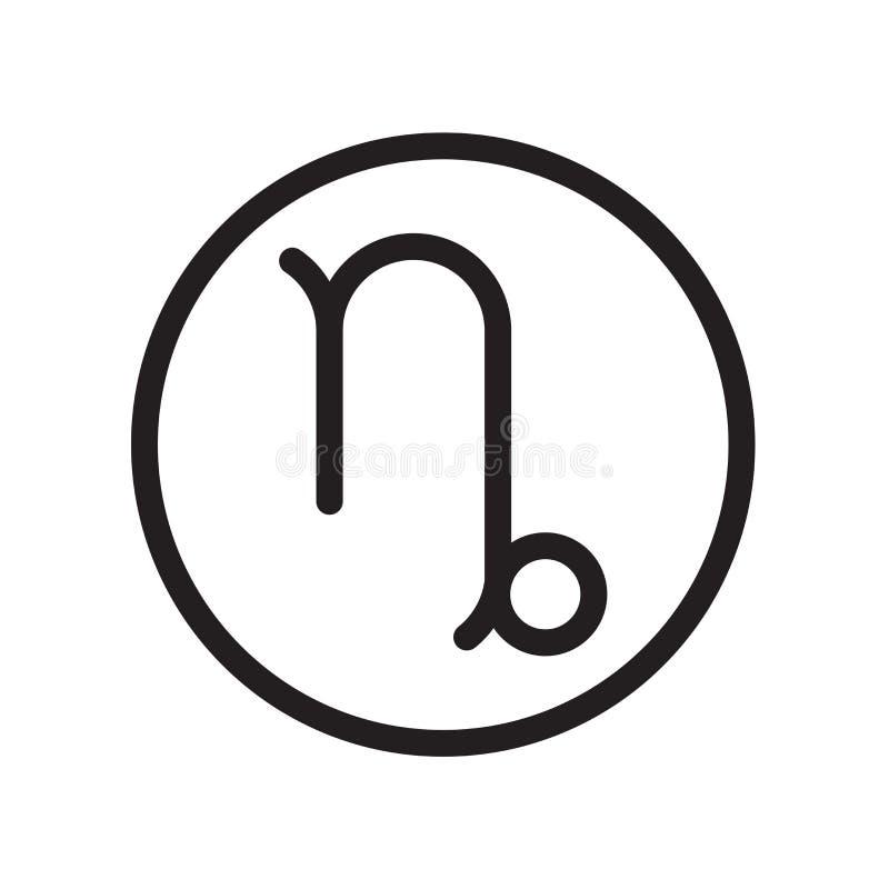Icono del Capricornio aislado en el fondo blanco libre illustration