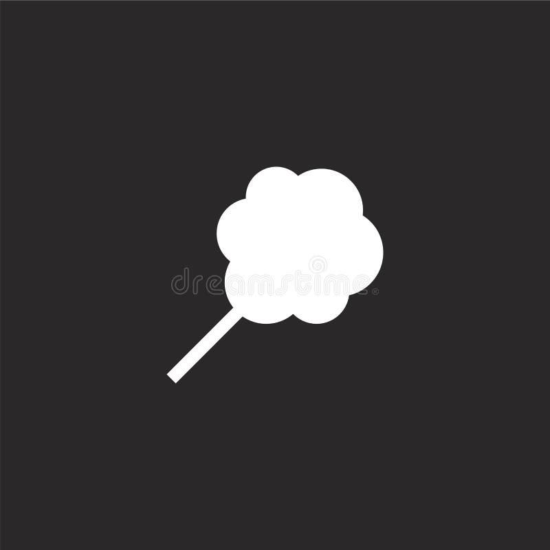 Icono del caramelo de algod?n Icono llenado del caramelo de algodón para el diseño y el móvil, desarrollo de la página web del ap libre illustration