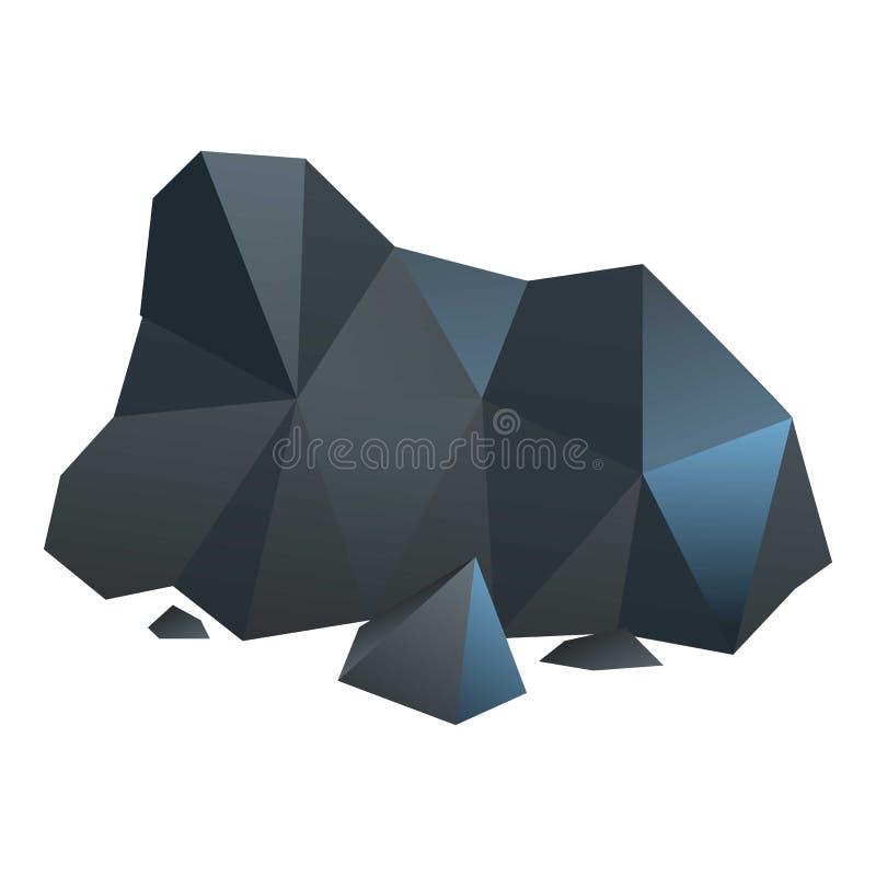 Icono del carbón de la pila, estilo de la historieta ilustración del vector