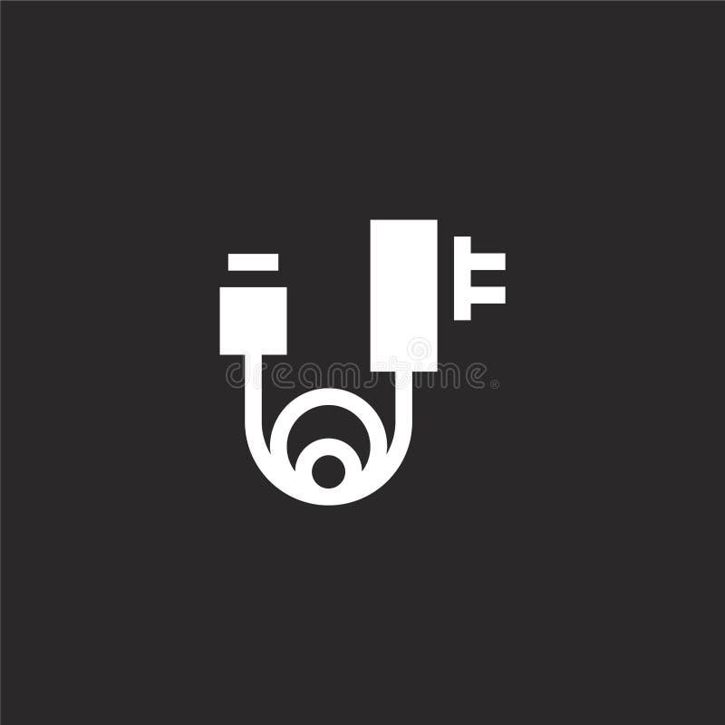 Icono del cargador Icono llenado del cargador para el diseño y el móvil, desarrollo de la página web del app icono del cargador d ilustración del vector