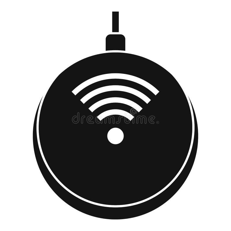 Icono del cargador super inalámbrico, estilo simple ilustración del vector
