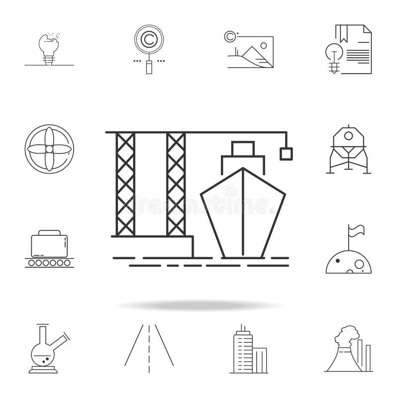 icono del cargamento de la nave Sistema detallado de iconos y de muestras del web Diseño gráfico superior Uno de los iconos de la libre illustration
