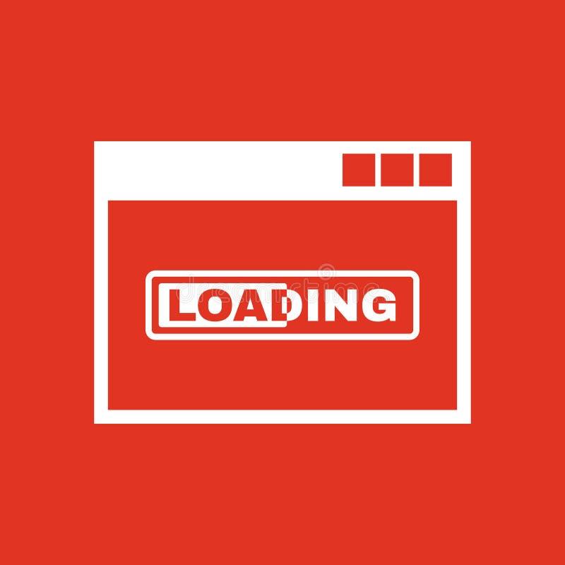 Icono del cargamento Diseño del vector Símbolo del cargamento web gráfico jpg ai app LOGOTIPO objeto plano imagen muestra EPS Art libre illustration