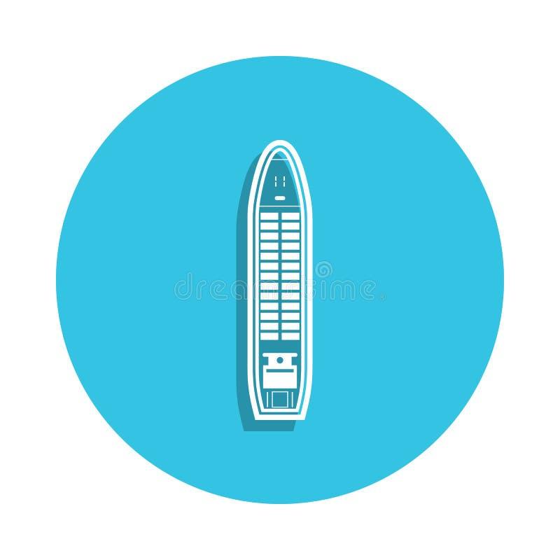 icono del carguero de graneles en estilo de la insignia Uno del icono de la colección de las naves se puede utilizar para UI, UX ilustración del vector