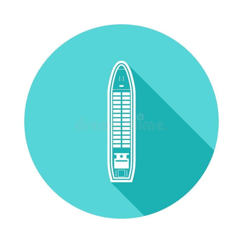 icono del carguero de graneles en sombra larga plana Uno del icono de la colección de las naves se puede utilizar para UI/UX libre illustration