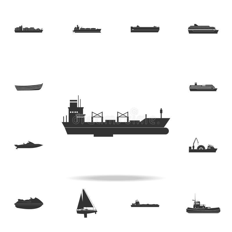 icono del carguero de graneles Sistema detallado de iconos del transporte del agua Diseño gráfico superior Uno de los iconos de l stock de ilustración