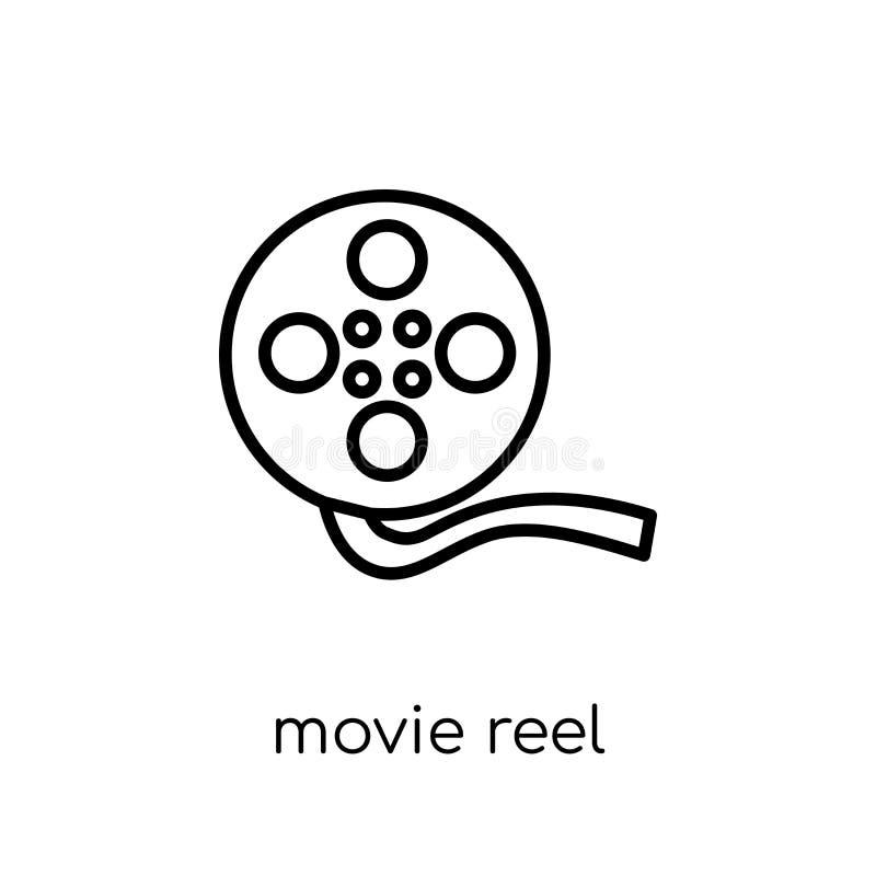 Icono del carrete de la película  ilustración del vector