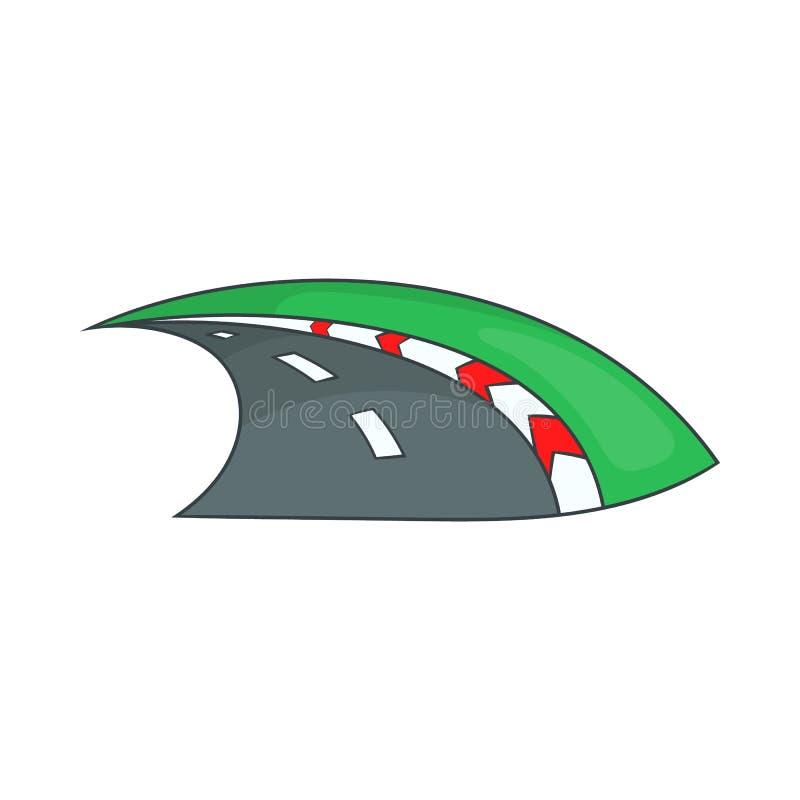 Icono del carretera, estilo de la historieta libre illustration