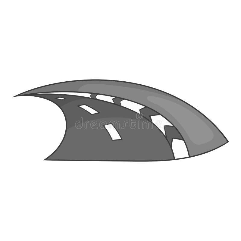 Icono del carretera, estilo monocromático negro libre illustration