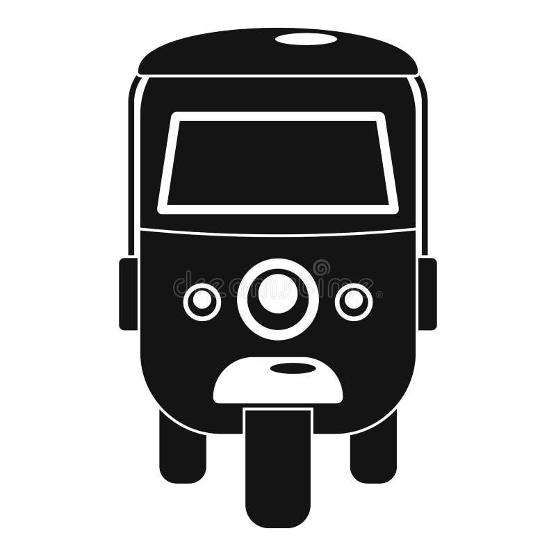 Icono del carrito, estilo simple ilustración del vector
