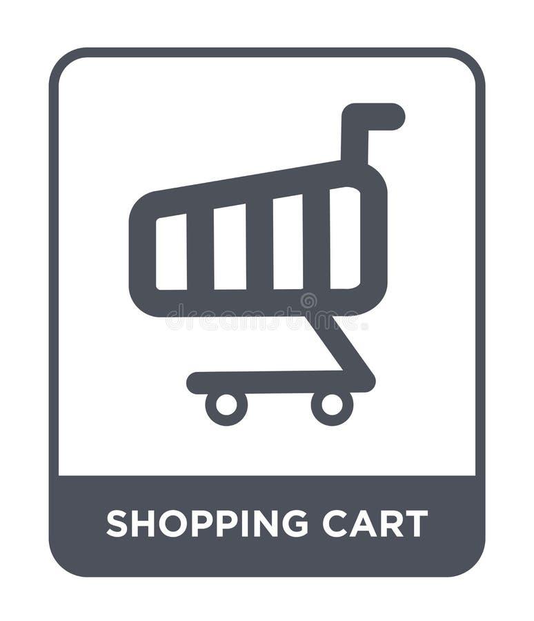 icono del carro de la compra en estilo de moda del diseño Icono del carro de la compra aislado en el fondo blanco icono del vecto libre illustration