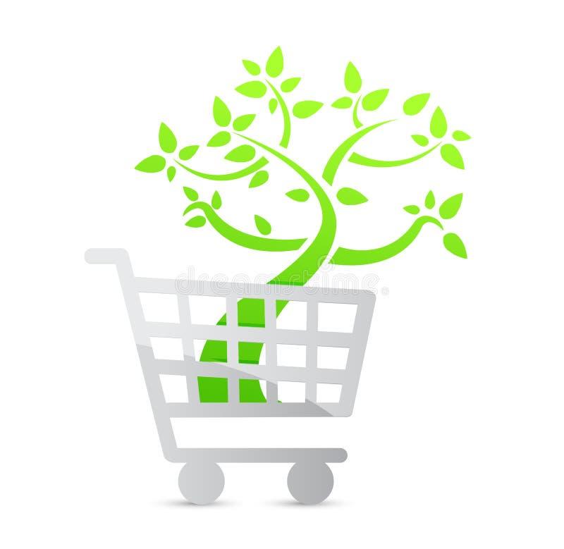 Icono del carro de la compra, orgánico libre illustration