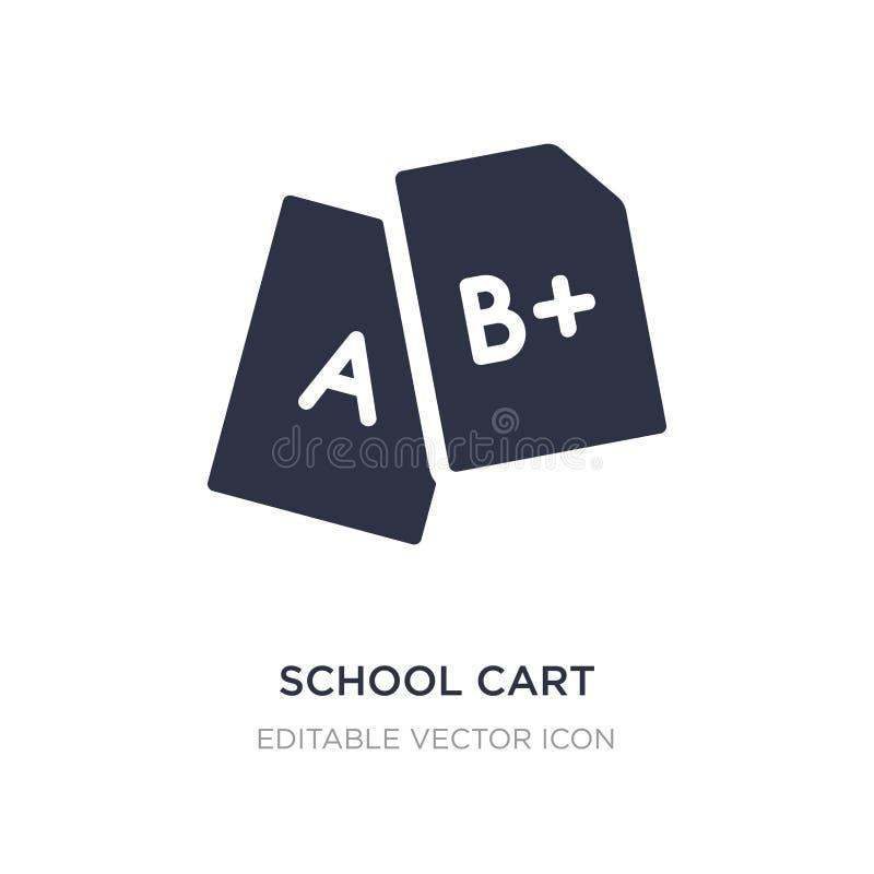 icono del carro de la escuela en el fondo blanco Ejemplo simple del elemento del concepto de la educación stock de ilustración