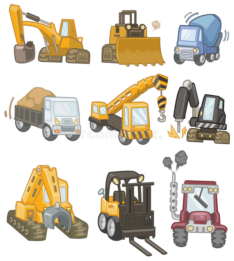 Icono del carro de la historieta libre illustration